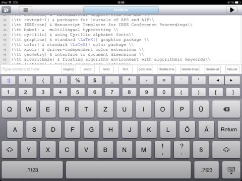 [Abbildung 2: TeX Expert Editor, Screenshot]