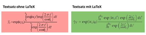 [Abbildung 1: Textsatz ohne und mit LaTex]